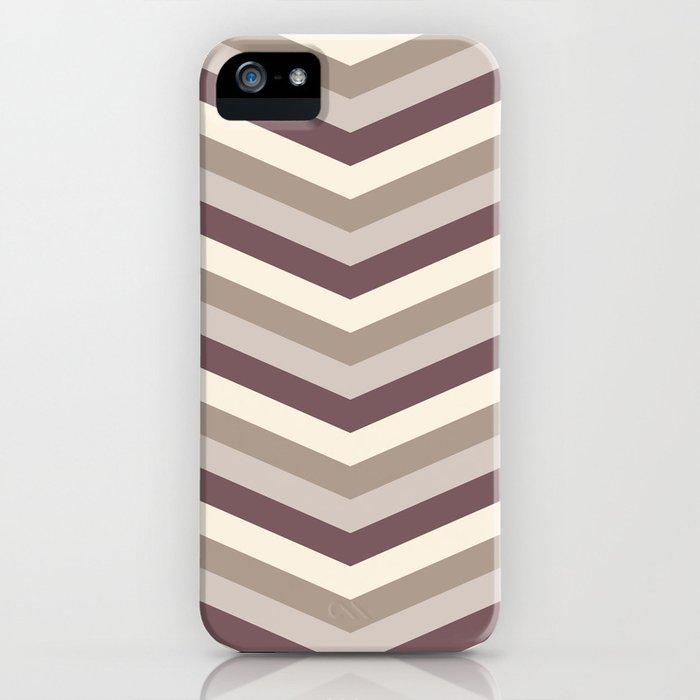 SAMMAL design - caramel milk coffee zig-zag iPhone Case