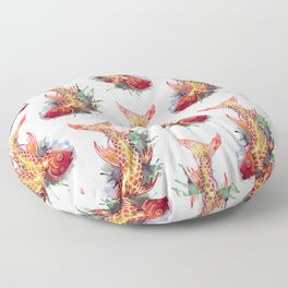 Fish Splash Floor Pillow