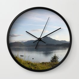 Kashevaroff Mountain Photography Print Wall Clock