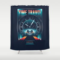 mcfly Shower Curtains featuring Time Travel by Steven Toang