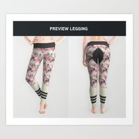 Legging geometric horse rider Art Print