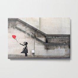 Banksy Balloon Girl Metal Print