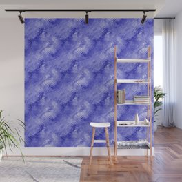 Blue Crystal Gel Glassy Abstract Pattern Wall Mural