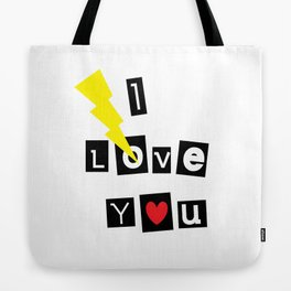 I Love You Thunder Letters Tote Bag