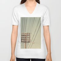 the wire V-neck T-shirts featuring wire by erinreidphoto