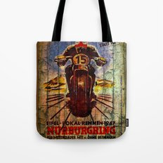 Vintage Racing Poster Tote Bag