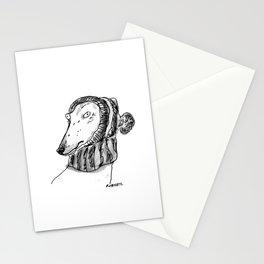 winter greyhound Stationery Cards