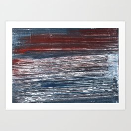 Striped abstract Art Print