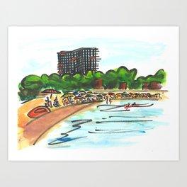 Platja d'Aro. (Summertime). Art Print