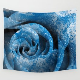 Blue Acrylic Rose Wall Tapestry