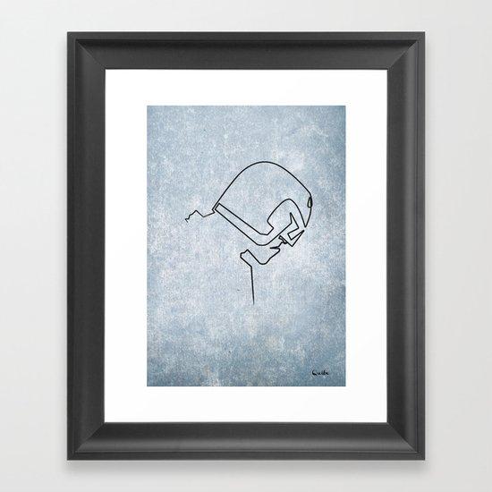 One line Dredd Framed Art Print