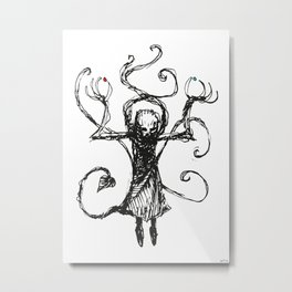 Evil Priest with two pills Metal Print
