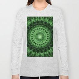 Pretty geometric green mandala Long Sleeve T-shirt