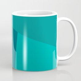 dégradé trapèze turquoise Coffee Mug