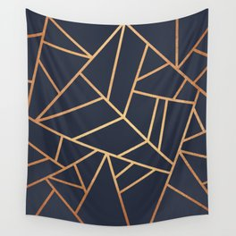 Copper and Midnight Navy Wall Tapestry