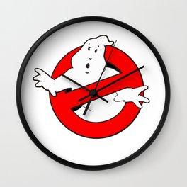 old school logo ghostbuster Wall Clock