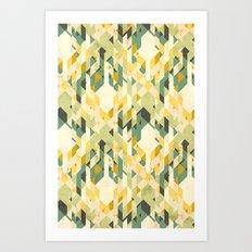 des-integrated tartan pattern Art Print
