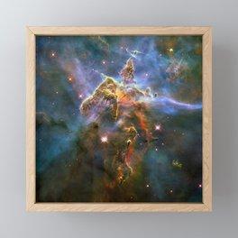 Mystic Mountain (a region in the Carina Nebula)(NASA/ESA Hubble Space Telescope) Framed Mini Art Print