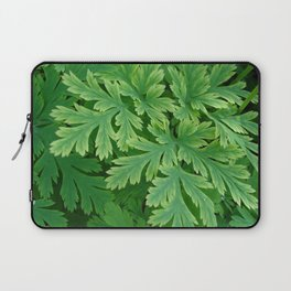 Vibrant green leaves Laptop Sleeve