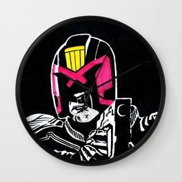 Marked for justice Wall Clock