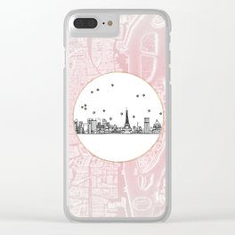 Paris, France, France, Europe City Skyline Illustration Drawing Clear iPhone Case