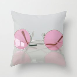 When setting up a rose-colored glasses... Throw Pillow