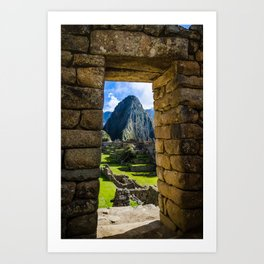 Doorways of Machu Picchu Art Print