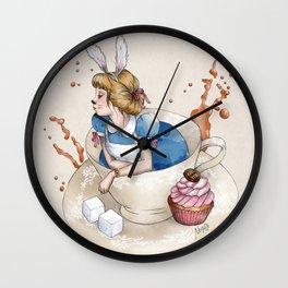 Tea Time in Wonderland Wall Clock