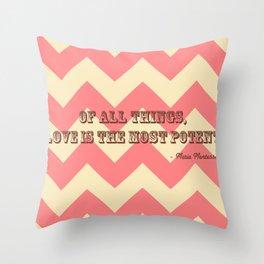 Chevron Love Throw Pillow