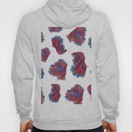 Ocean Theme- Red Blue Betta Fish Hoody