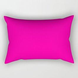 Neon Pink Solid Colour Rectangular Pillow