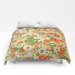 Sunset Garden Pattern No. 1 Comforters