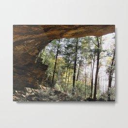 Ash Cave Metal Print