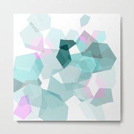 Gems in sea green Metal Print