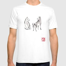 Two Shiba Inu Couple T-shirt