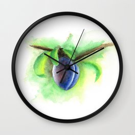 Purple Plum Wall Clock
