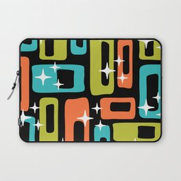 Retro Mid Century Modern Abstract Pattern 222 Orange Chartreuse Turquoise Laptop Sleeve