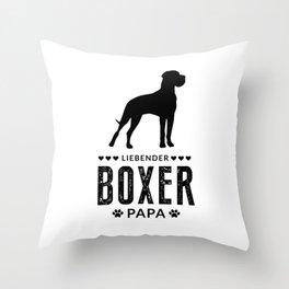 Boxer Dad German Boxer Dog Lover Dog Owner Throw Pillow