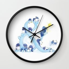 little blue penguin Wall Clock