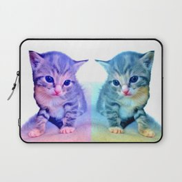Cute Colorful Cat Couple Laptop Sleeve
