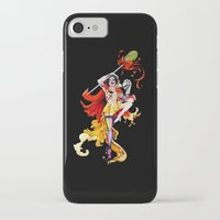actor iPhone & iPod Cases featuring Cracked Actor (black) by Ashleigh Hungerford
