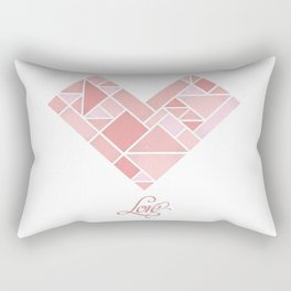 Love Shapes Rectangular Pillow