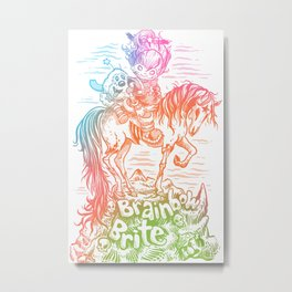 Brainbow Brite.  Metal Print