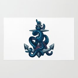 Octopus and Anchor Rug