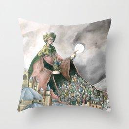 Theodora of Byzantine Throw Pillow