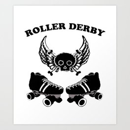 Roller Derby Wings Art Print