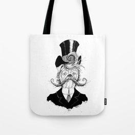 Fine Victorian Bulldog (B&W) Tote Bag
