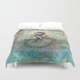 The Seahorse Diary Duvet Cover