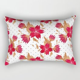 Floral seamless pattern with red flowers texture Rectangular Pillow