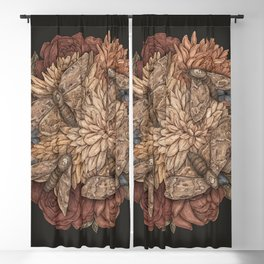 Flowers and Moths Blackout Curtain
